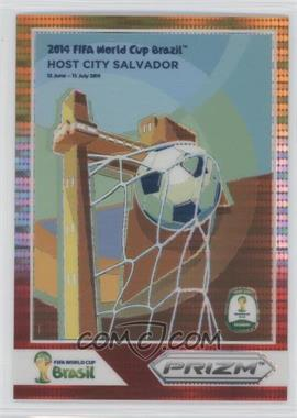 2014 Panini Prizm World Cup Posters Yellow & Red Pulsar Prizms #11 - Salvador