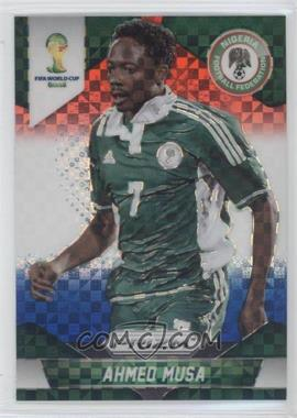 2014 Panini Prizm World Cup Red, White, & Blue Power Plaid Prizms #154 - Ahmed Musa