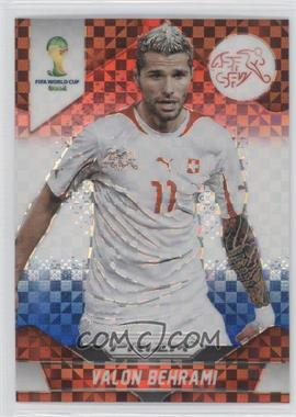 2014 Panini Prizm World Cup Red, White, & Blue Power Plaid Prizms #187 - Valon Behrami