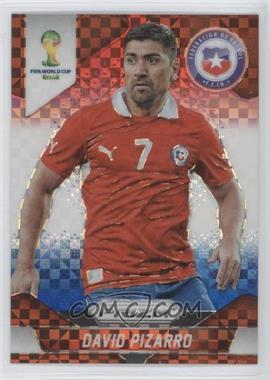 2014 Panini Prizm World Cup Red, White, & Blue Power Plaid Prizms #44 - David Pizarro