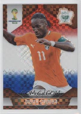 2014 Panini Prizm World Cup Red, White, & Blue Power Plaid Prizms #60 - Didier Drogba