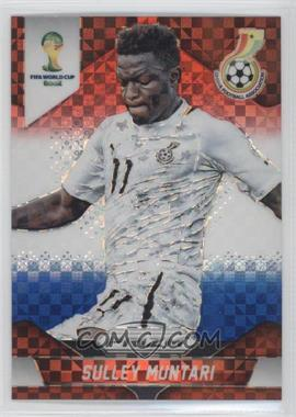 2014 Panini Prizm World Cup Red, White, & Blue Power Plaid Prizms #96 - Sulley Muntari