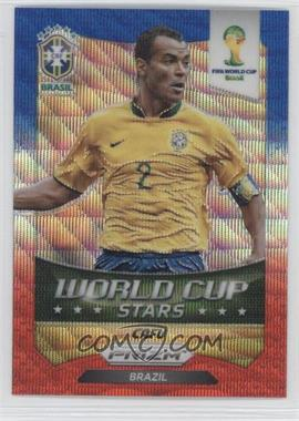 2014 Panini Prizm World Cup Stars Blue & Red Blue Wave Prizms #47 - Cafu