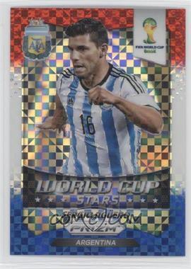 2014 Panini Prizm World Cup Stars Red, White, & Blue Power Plaid Prizms #2 - Sergio Aguero