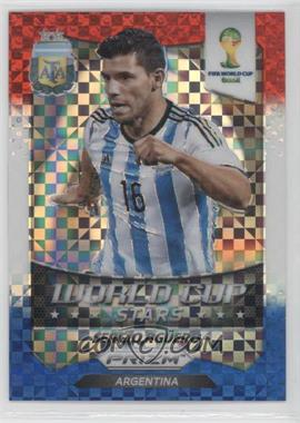 2014 Panini Prizm World Cup Stars Red, White, & Blue Power Plaid Prizms #2 - Sergio Aguero