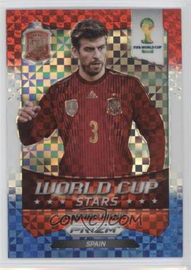 2014 Panini Prizm World Cup Stars Red, White, & Blue Power Plaid Prizms #32 - Gerard Pique