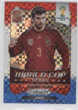 2014 Panini Prizm World Cup Stars Red, White, & Blue Power Plaid Prizms #32 - Gerard Pique