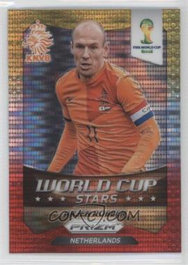 2014 Panini Prizm World Cup Stars Yellow & Red Pulsar Prizms #20 - Arjen Robben