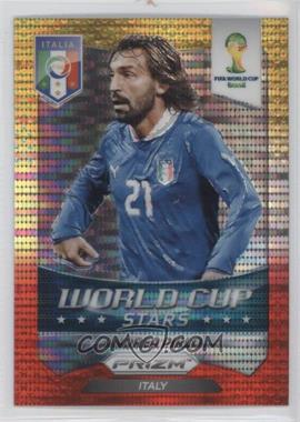 2014 Panini Prizm World Cup Stars Yellow & Red Pulsar Prizms #24 - Andrea Pirlo