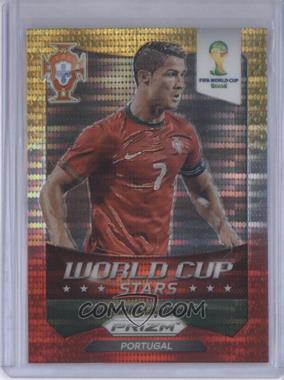 2014 Panini Prizm World Cup Stars Yellow & Red Pulsar Prizms #28 - Cristiano Ronaldo