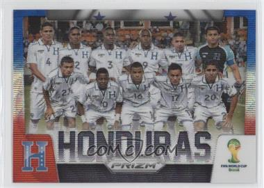 2014 Panini Prizm World Cup Team Photos Blue & Red Blue Wave Prizms #19 - Honduras