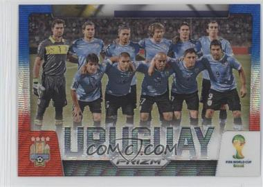2014 Panini Prizm World Cup Team Photos Blue & Red Blue Wave Prizms #31 - Uruguay