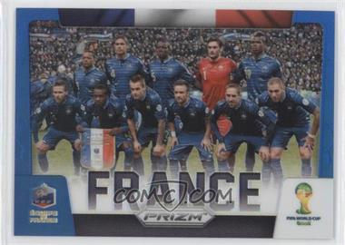 2014 Panini Prizm World Cup Team Photos Blue Prizms #14 - France /199