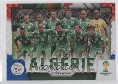 2014 Panini Prizm World Cup Team Photos Red, White, & Blue Power Plaid Prizms #1 - Algeria