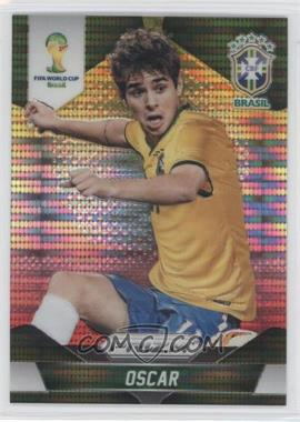 2014 Panini Prizm World Cup Yellow & Red Pulsar Prizms #109 - Oscar