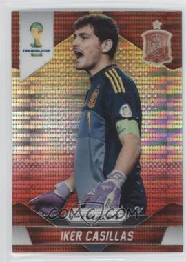 2014 Panini Prizm World Cup Yellow & Red Pulsar Prizms #170 - Iker Casillas