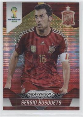 2014 Panini Prizm World Cup Yellow & Red Pulsar Prizms #174 - Sergio Busquets