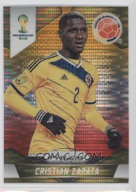 2014 Panini Prizm World Cup Yellow & Red Pulsar Prizms #48 - Cristian Zapata