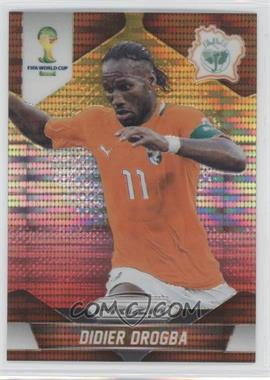 2014 Panini Prizm World Cup Yellow & Red Pulsar Prizms #60 - Didier Drogba