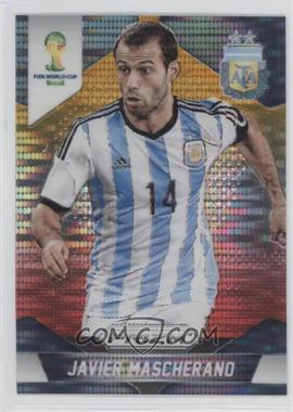 2014 Panini Prizm World Cup Yellow & Red Pulsar Prizms #8 - Javier Mascherano