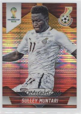 2014 Panini Prizm World Cup Yellow & Red Pulsar Prizms #96 - Sulley Muntari