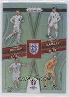Gary Cahill, Joe Hart, Ross Barkley, Wayne Rooney