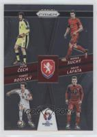 Tomas Rosicky, David Lafata, Marek Suchy, Petr Cech