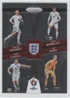 Gary Cahill, Joe Hart, Wayne Rooney, Ross Barkley