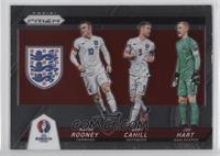 Joe Hart, Wayne Rooney, Gary Cahill