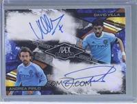 David Villa, Andrea Pirlo /25 [ENCASED]