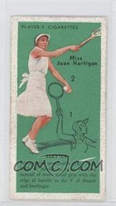 1936 Player's Cigarettes Tennis - Tobacco [Base] #1 - Miss Joan Hartigan (Service)