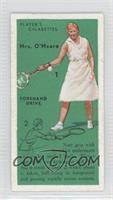 Mrs. O'Meara (Forehand Drive)