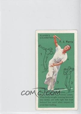 1936 Player's Cigarettes Tennis - Tobacco [Base] #2 - F.J. Perry (Service)