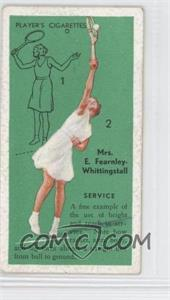 1936 Player's Cigarettes Tennis - Tobacco [Base] #3 - E.F. Whittingstall (Service) [GoodtoVG‑EX]