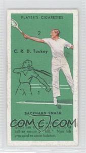 1936 Player's Cigarettes Tennis - Tobacco [Base] #48 - C.R.D. Tuckey (Backhand Smash)