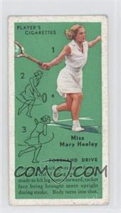 1936 Player's Cigarettes Tennis - Tobacco [Base] #6 - Miss Mary Heeley (Forehand Drive) [GoodtoVG‑EX]