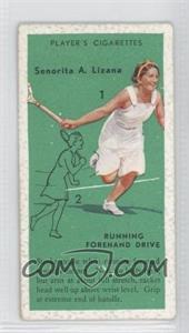 1936 Player's Cigarettes Tennis - Tobacco [Base] #9 - Senorita A. Lizana (Running Forehand Drive)