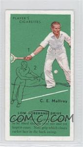 1936 Player's Cigarettes Tennis Tobacco [Base] #10 - C.E Malfroy (Low Forehand Drive)