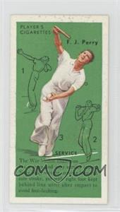 1936 Player's Cigarettes Tennis Tobacco [Base] #2 - F.J. Perry (Service)