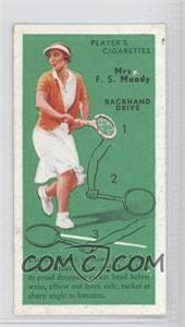 1936 Player's Cigarettes Tennis Tobacco [Base] #21 - Backhand Drive