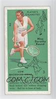 Miss Dorothy Round (Low Backhand Drive)