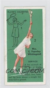 1936 Player's Cigarettes Tennis Tobacco [Base] #3 - Service