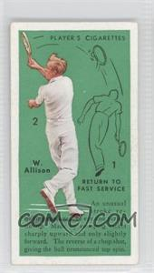 1936 Player's Cigarettes Tennis Tobacco [Base] #4 - Return to Fast Service