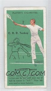 1936 Player's Cigarettes Tennis Tobacco [Base] #48 - Backhand Smash
