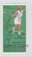 Miss Mary Heeley (Forehand Drive)