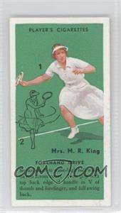 1936 Player's Cigarettes Tennis Tobacco [Base] #7 - Forehand Drive