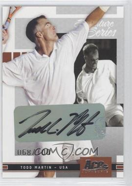 2005 Ace Authentic Signature Series - Signature Series #39 - Todd Martin /100
