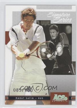 2005 Ace Authentic Signature Series Holofoil #5 - Marat Safin /100