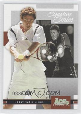 2005 Ace Authentic Signature Series Holofoil #5 - Marat Safin /100