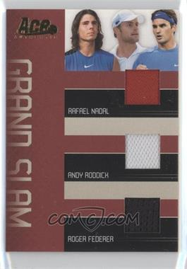 2006 Ace Authentic Grand Slam Grand Slam Materials [Memorabilia] #GS-2 - Rafael Nadal, Andy Roddick, Roger Federer